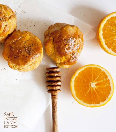 muffin orange et fève de tonka sans oeuf et sans lactose